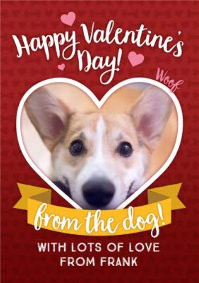 Happy Valentines Day From The Dog Photo Upload Card