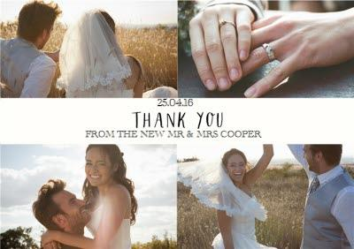 Multi-Photo Wedding Thank You Card