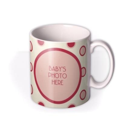 Baby Spotty Photo Upload Mug