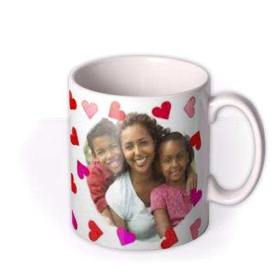 Valentine's Day Red and Pink Hearts Photo Upload Mug