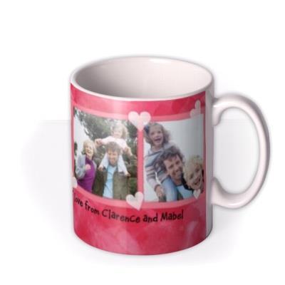 Valentine's Day Pink Heart Photo Upload Mug