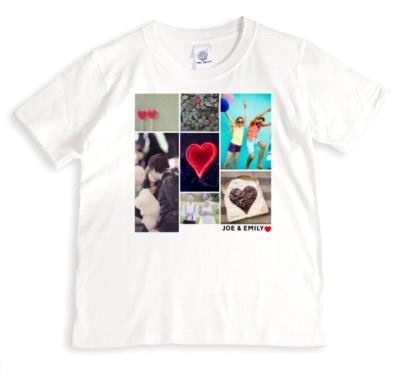 Valentine's Day Romantic Collage Photo Upload T-shirt