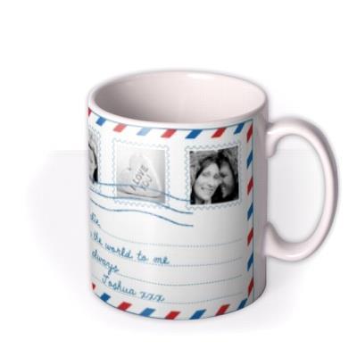 Par Avion Photo Upload Mug