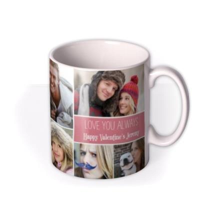 Valentine's Day Love and Laughter Photo Upload Mug