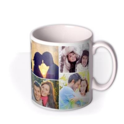 Valentine's Day Photo Collage Photo Upload Mug
