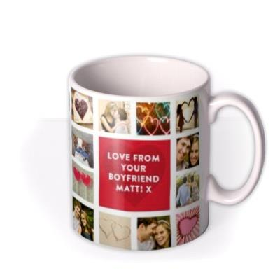 Valentine's Day Personalised Photo Collage Mug