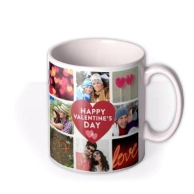 Valentine's Day Heart and Photo Collage Mug
