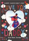 I Love You Daddy Personalised Photo Upload Card