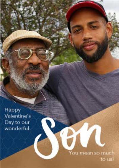 Wonderful Son Photo Upload Valentine's Day Card
