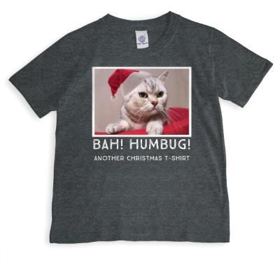 Christmas Humbug Cat Photo Upload T-shirt