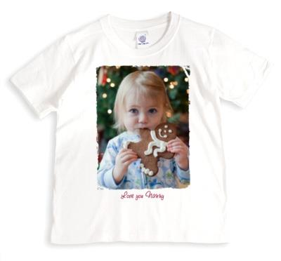 Christmas Nanny Handwriting Photo Upload T-shirt