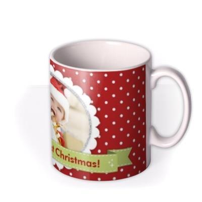 Merry Christmas Baby Photo Upload Mug