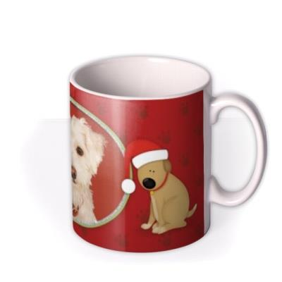 Merry Christmas Dog Photo Upload Mug