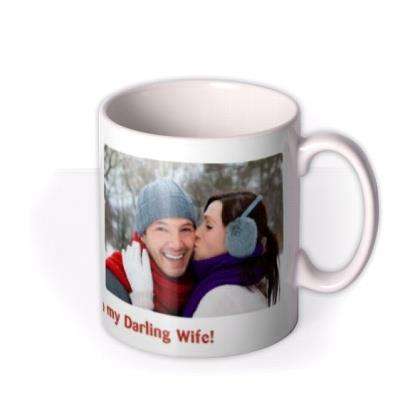 Merry Christmas Double Photo Upload Mug