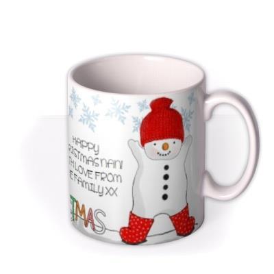 Christmas Snowman Photo Upload Mug