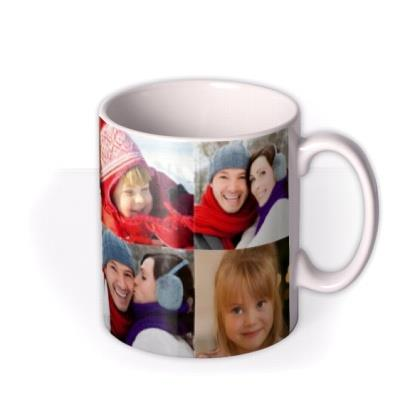 Christmas Collage Photo Upload Mug