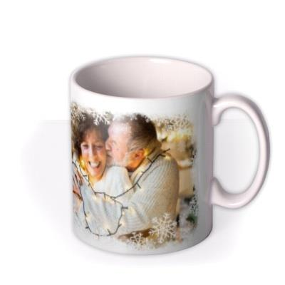 Christmas Snowflake Photo Upload Mug