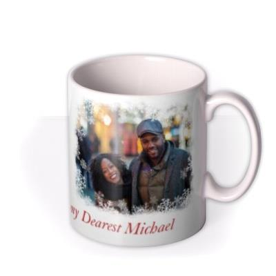 Christmas Snowflake Duo Photo Upload Mug