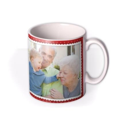 Christmas Grandma Photo Upload Mug