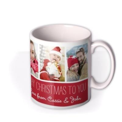 Christmas Collage 7 Photo Upload Mug