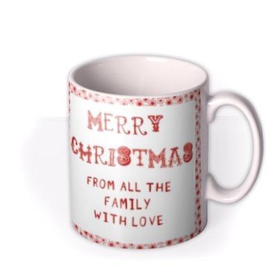 Christmas Frame Photo Upload Mug