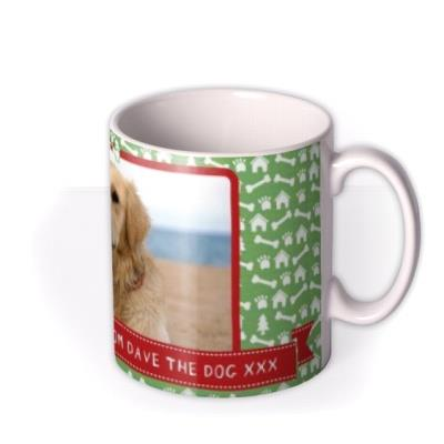 Christmas Dog Photo Upload Mug
