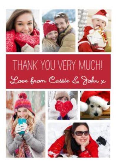 Thank You Christmas Card