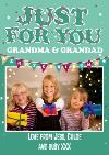 Christmas Card For Grandma & Grandad