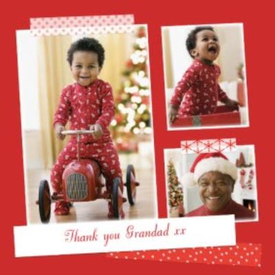 Santa Red Multi-Photo Thank You Christmas Card