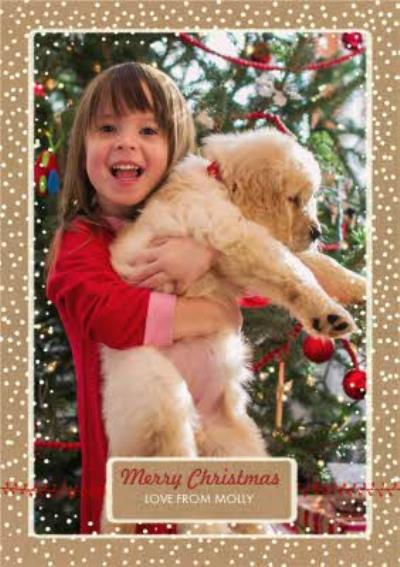 Dropping Snowflakes Merry Christmas Photo Card