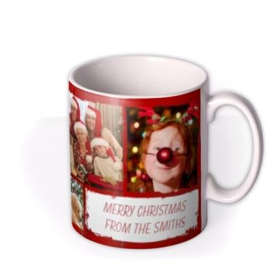 Merry Christmas Collage Photo Upload Mug
