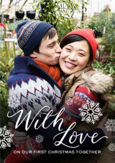 First Christmas Together Personalised Photo Upload Happy Christmas Card