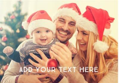 Photo Upload Horizontal Personalised Text Card