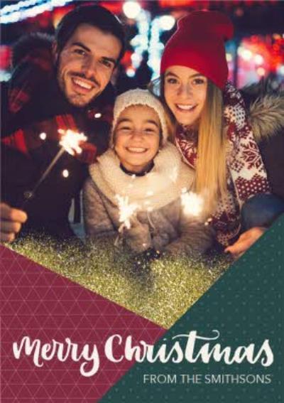 Geometric Design Personalised Christmas Card