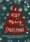 A Very Merry Christmas Ribbon Personalised Card