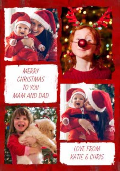 Multi Photo upload Christmas Card - Wishing you a lovely Christmas