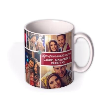 Merry And Bright Multi Photo Upload Christmas Mug