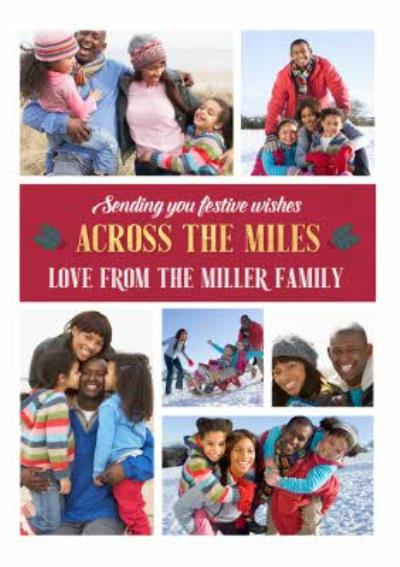 Across The Miles Multiple Photo Upload Christmas Card