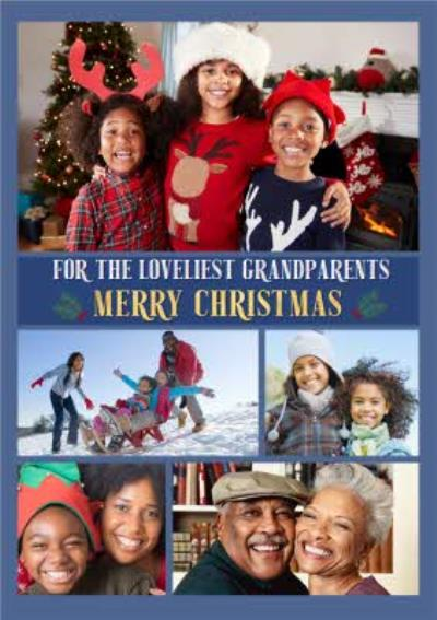 Multiple Photo Upload Christmas Card For Grandparents