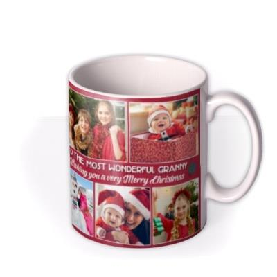 Multi Photo Upload Christmas Mug For Granny