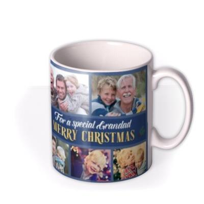 For A Special Grandad Multiple Photo Upload Christmas Mug