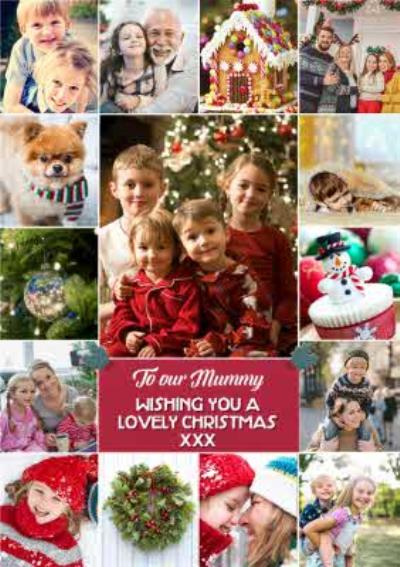 From The Kids Multiple Photo Upload Charistmas Card For Mum or Mummy