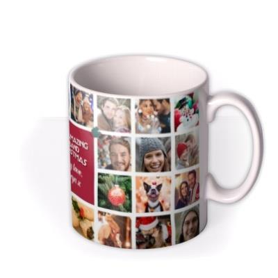 To My Amazing Husband Multiple Photo Upload Christmas Mug