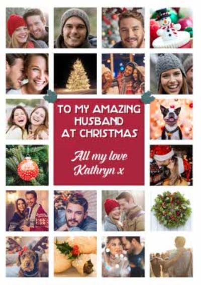 Multiple Photo Upload Christmas Card For Husband