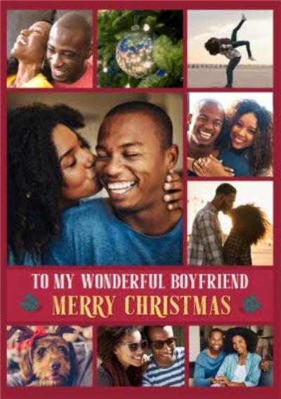 Wonderful Boyfriend Multiple Photo Upload Christmas Card