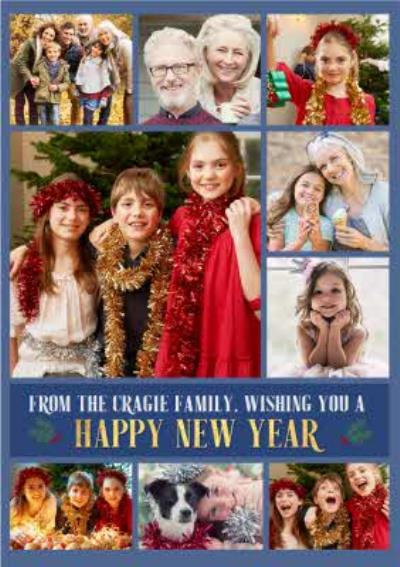Multiple Photo Upload Happy New Year Card
