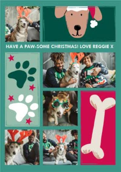 Pawsome Christmas From The Pet Photo Upload Card