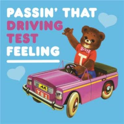 Funny Driving Test card - retro images