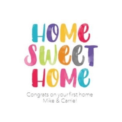 New home card - home sweet home