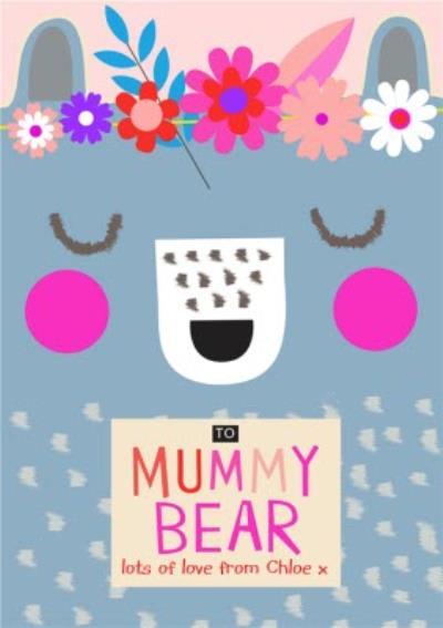 Mother's Day Card - Mummy Bear - Cute Illustration